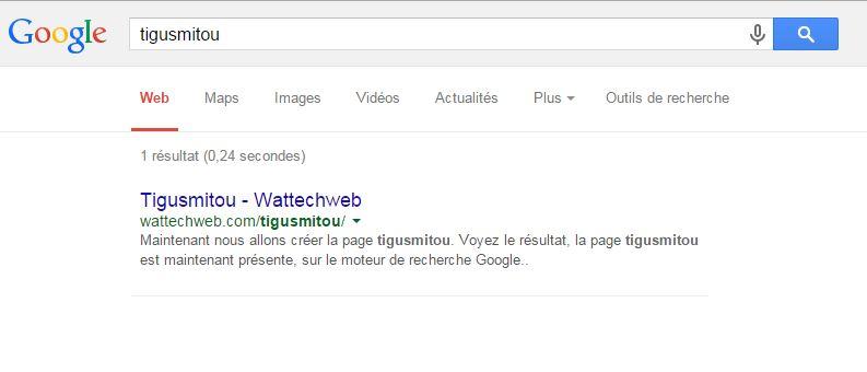 la page tigusmitou est maintenant présente, sur le moteur de recherche Google..